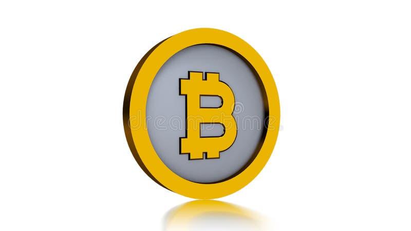 Логотип Bitcoin изолированный на белой предпосылке иллюстрация штока