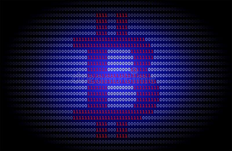 Логотип Bitcoin на синей предпосылке иллюстрация штока