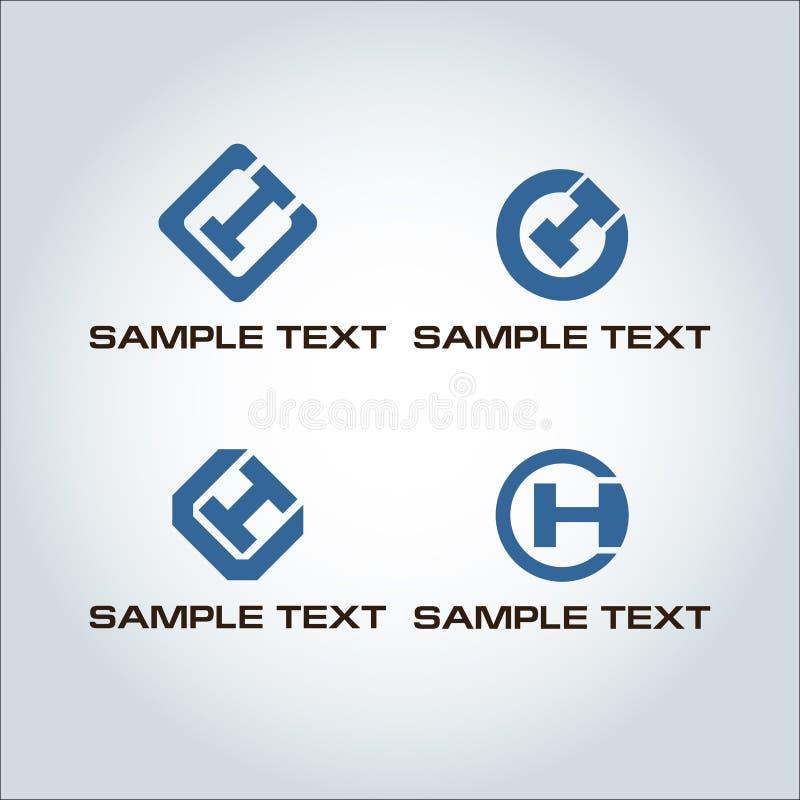 Логотип CH письма иллюстрация вектора