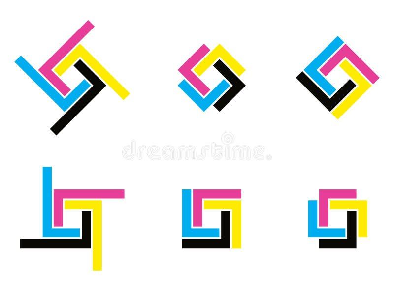 Логотип Cmyk иллюстрация штока