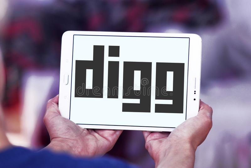 Логотип Digg стоковое изображение rf