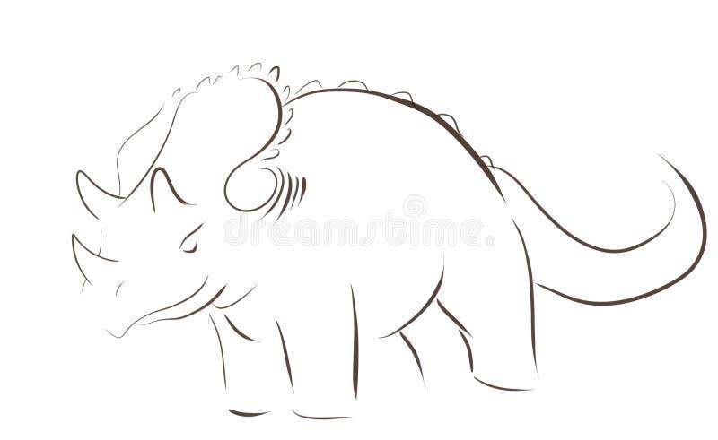 Логотип Dino иллюстрация штока