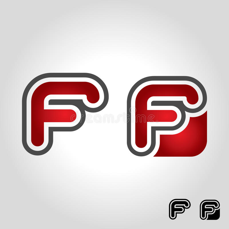 Логотип f письма иллюстрация штока