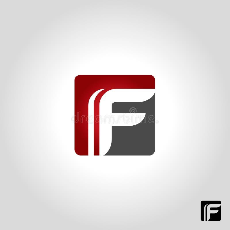 Логотип f письма иллюстрация вектора