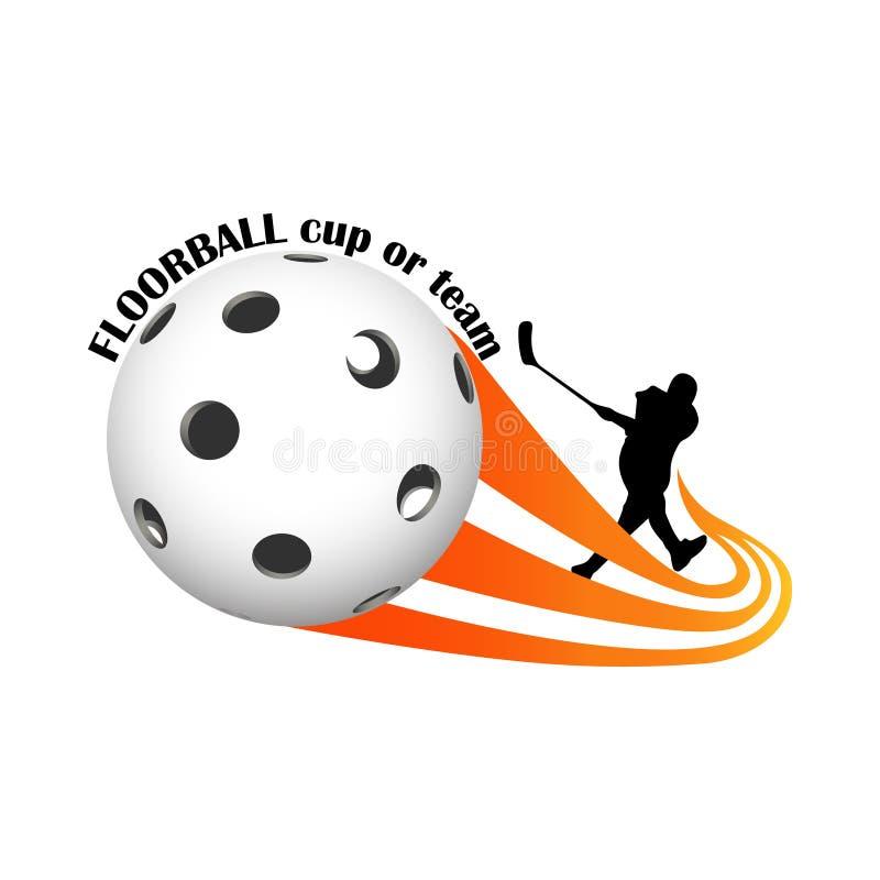 Логотип Floorball для команды и чашки бесплатная иллюстрация