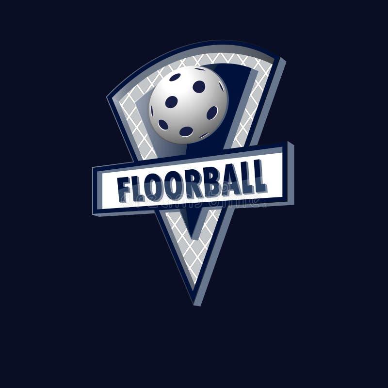 Логотип Floorball для команды и чашки иллюстрация вектора