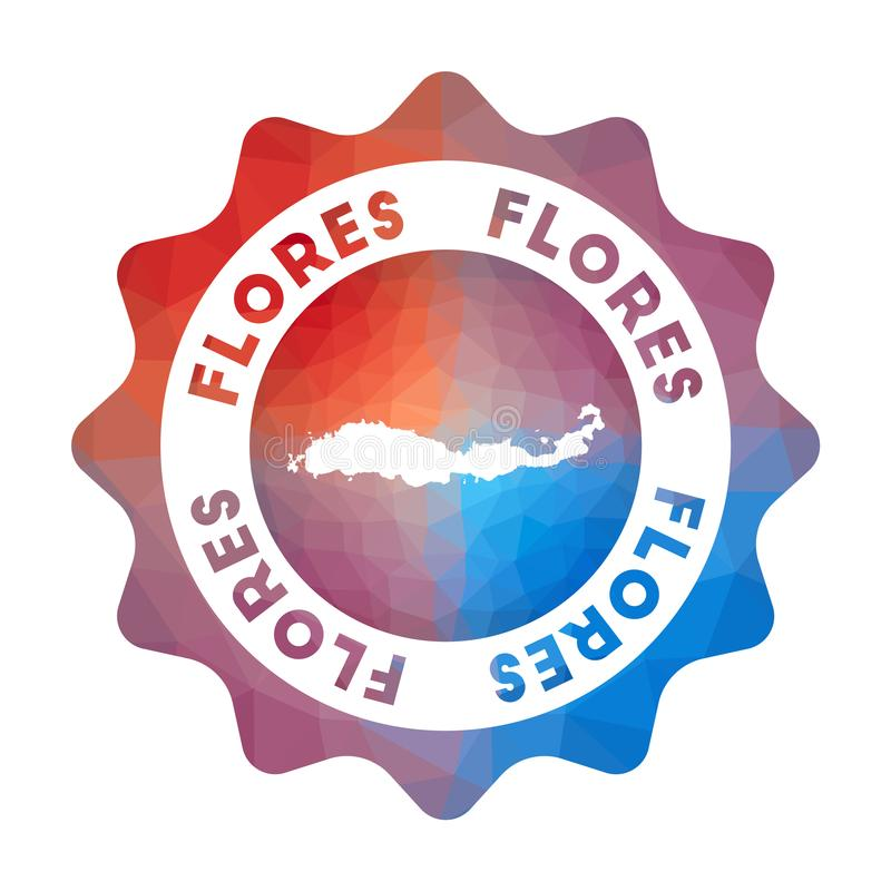 Логотип Flores низкий поли иллюстрация штока