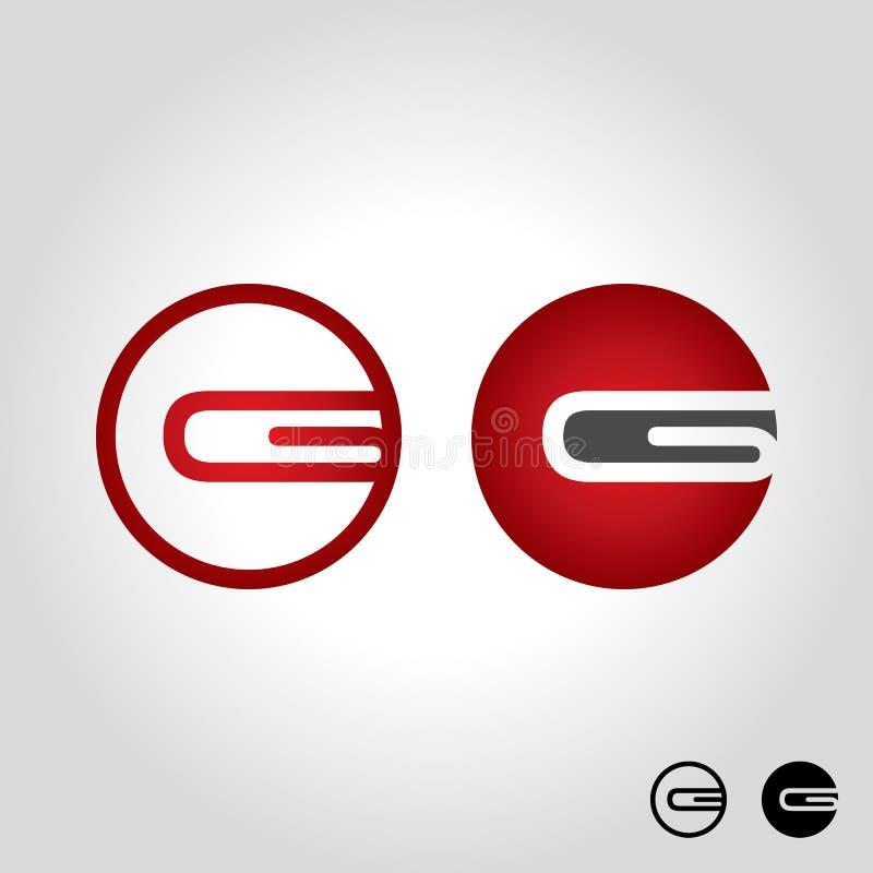 Логотип g письма иллюстрация штока
