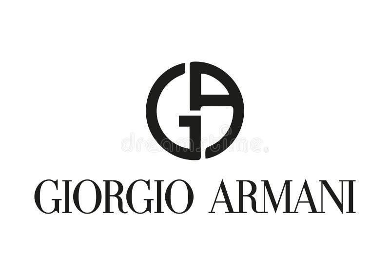 Логотип Giorgio Armani иллюстрация штока