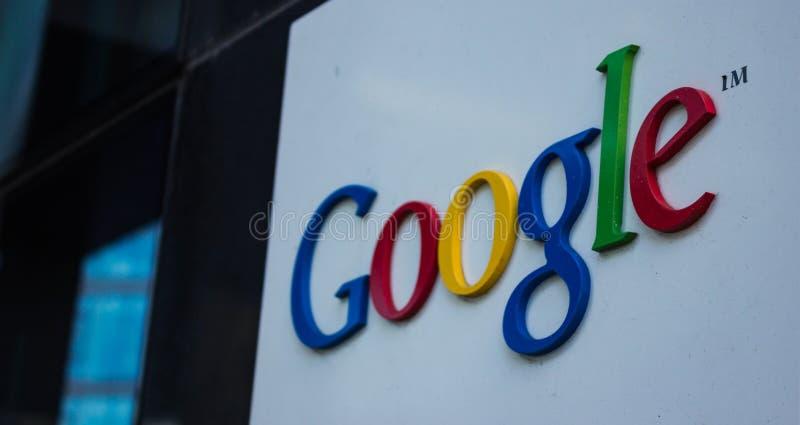 Логотип Google в Дублине стоковая фотография rf