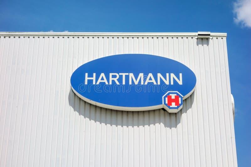 Логотип Hartmann AG, Heidenheim, Германию стоковое изображение rf