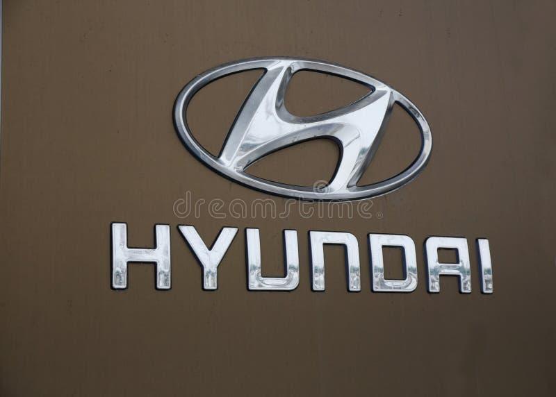 Логотип Hyundai стоковое фото