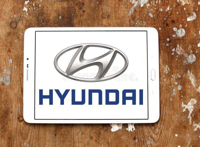 Логотип Hyundai стоковое изображение rf