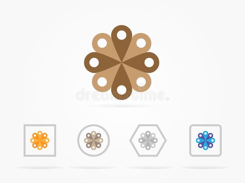 Логотип Illistration декоративный коричневый иллюстрация вектора