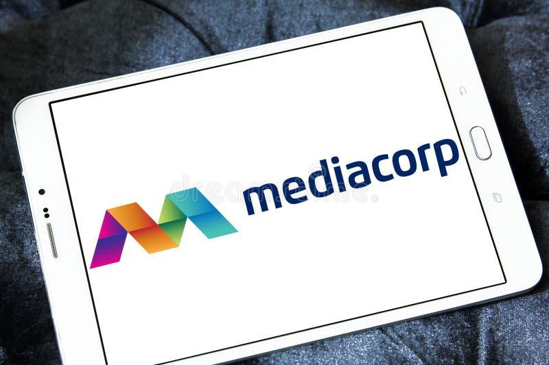 Логотип Mediacorp стоковое фото
