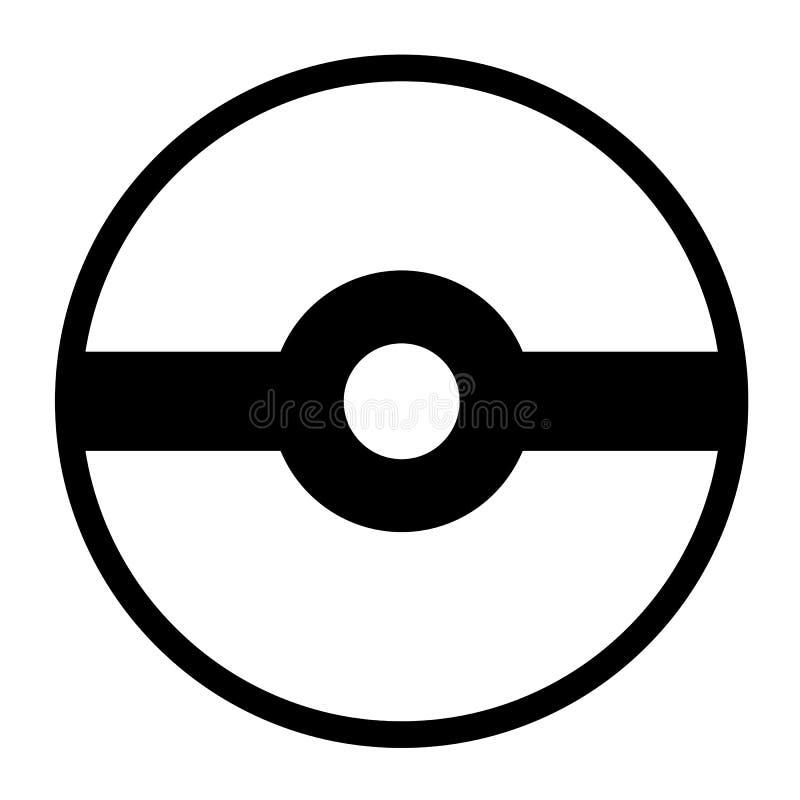 Логотип Pokeball изолированный на белой предпосылке иллюстрация вектора