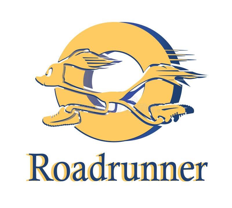 Логотип Roadrunner в круге иллюстрация штока