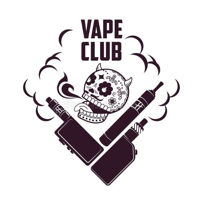 Логотип vape иллюстрации вектора винтажный бесплатная иллюстрация