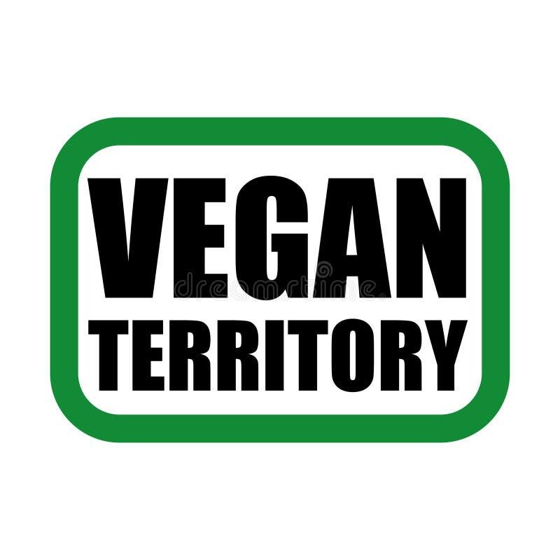 логотип vegan в зеленых и черных цветах иллюстрация штока