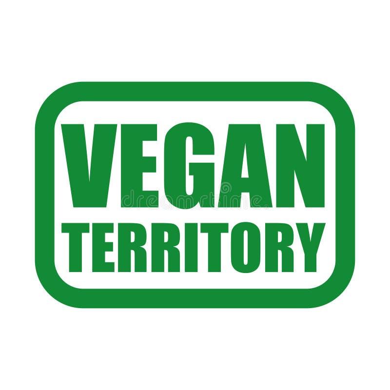 логотип vegan в зеленых и черных цветах иллюстрация вектора