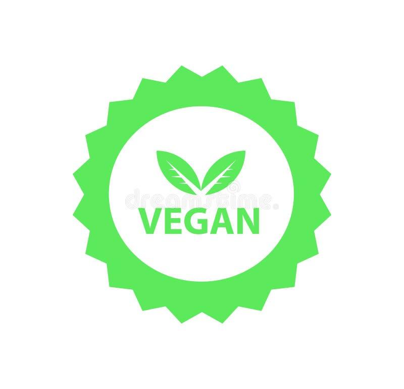 Логотип Vegan, органические био логотипы или знак Сырцовые, здоровые значки еды, бирки установили для кафа, ресторанов, продуктов бесплатная иллюстрация