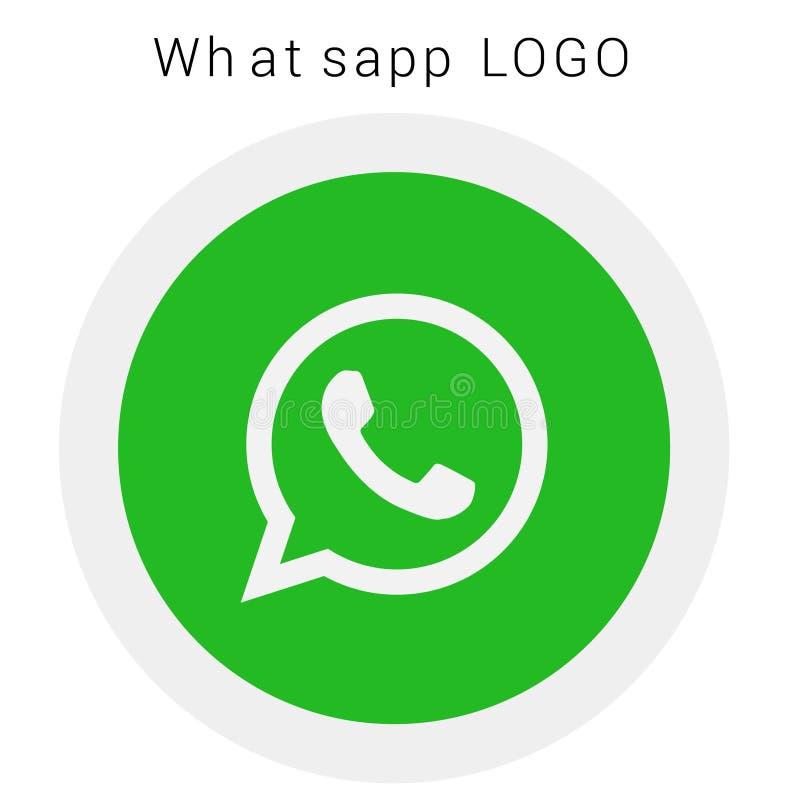 Логотип WhatsApp с файлом Ai вектора округленный покрашенный стоковое изображение rf