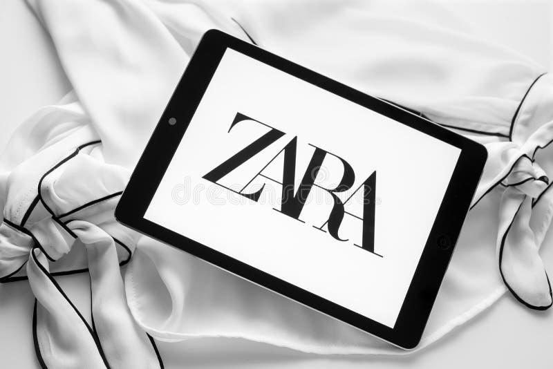 Логотип Zara новый стоковое фото