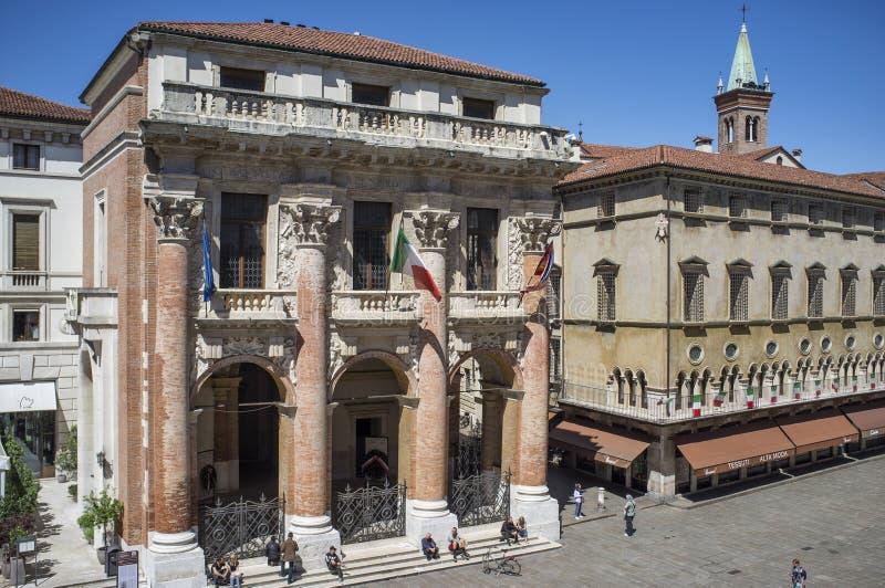 Лоджия Capitaniato, Виченца - Италия стоковые фотографии rf