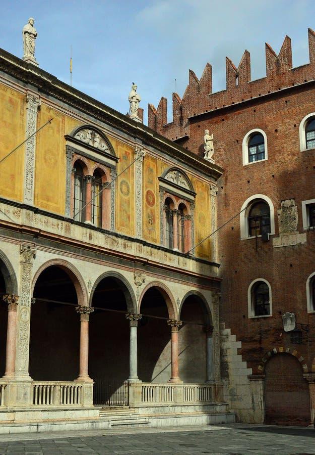 Лоджия del Консиглио на Signori Верона dei аркады - стоковое изображение