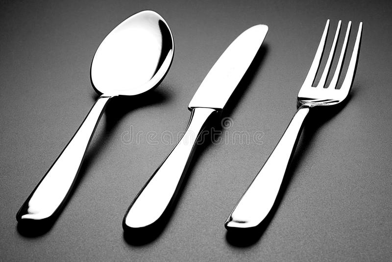 Ложка и нож вилки стоковое изображение rf