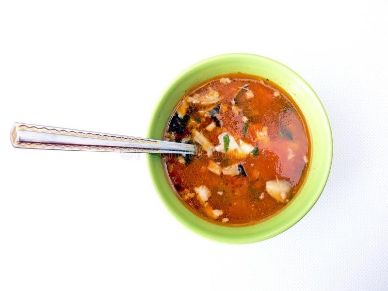 ложка супа рыб стоковое изображение