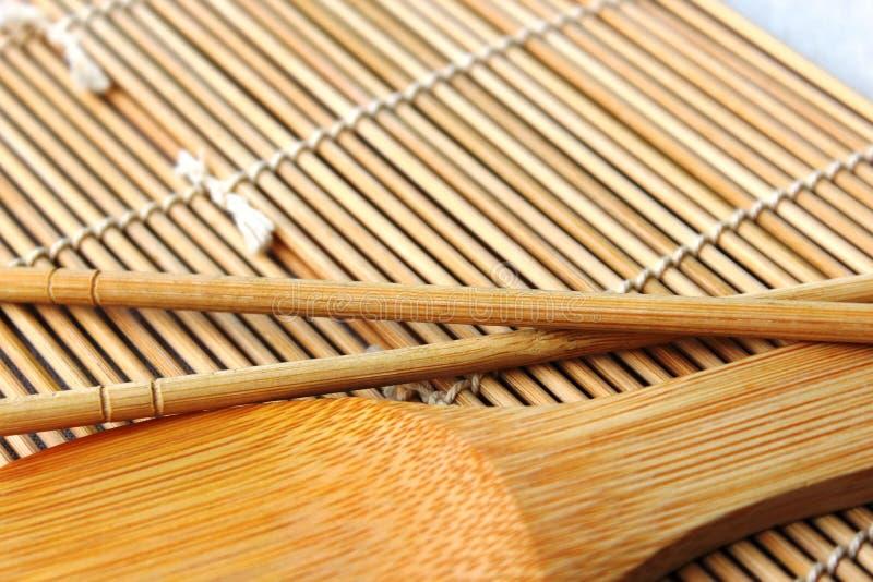 Ложка суш на ковре стоковое изображение rf