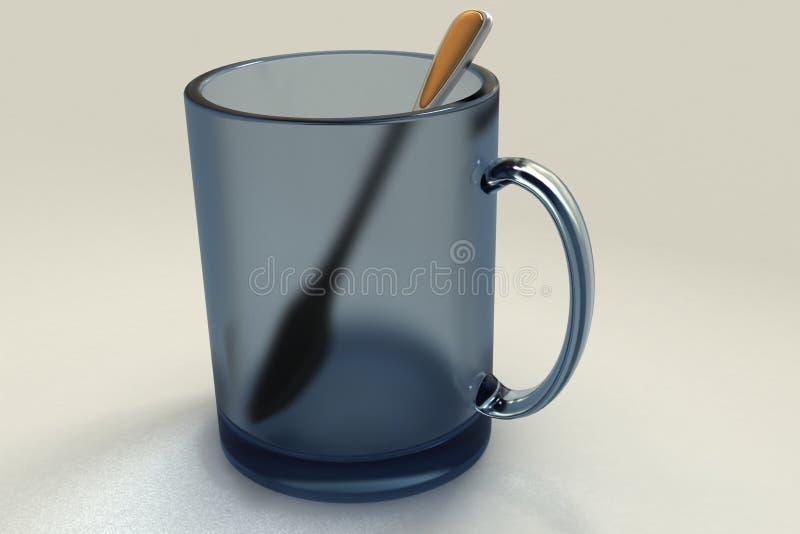 ложка чашки стоковая фотография rf