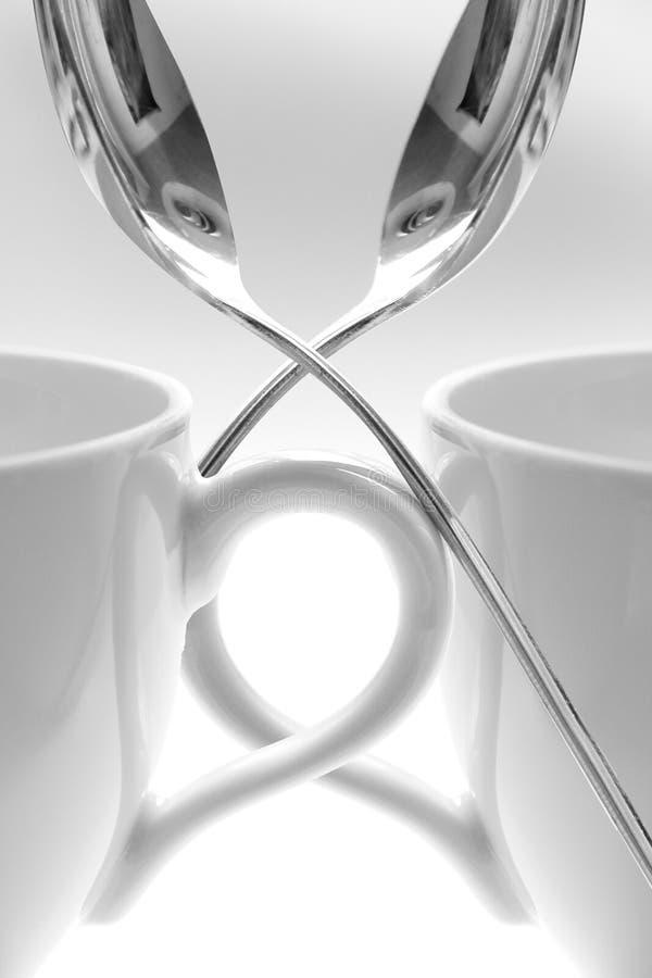 ложки чашек стоковые изображения