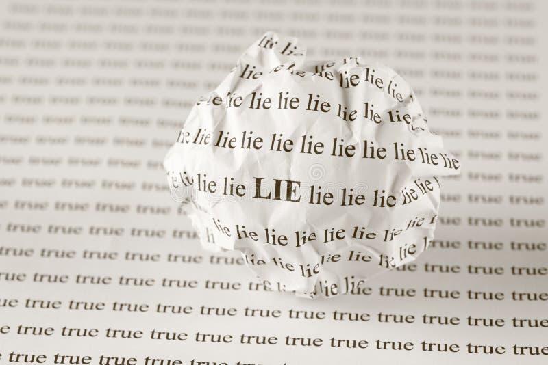 Ложь или верно стоковое изображение rf