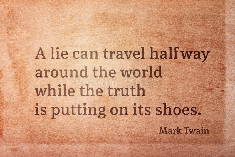 Ложь может путешествовать Twain стоковые изображения rf