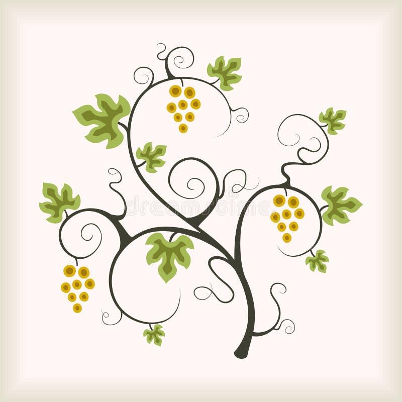 лоза вала виноградины бесплатная иллюстрация