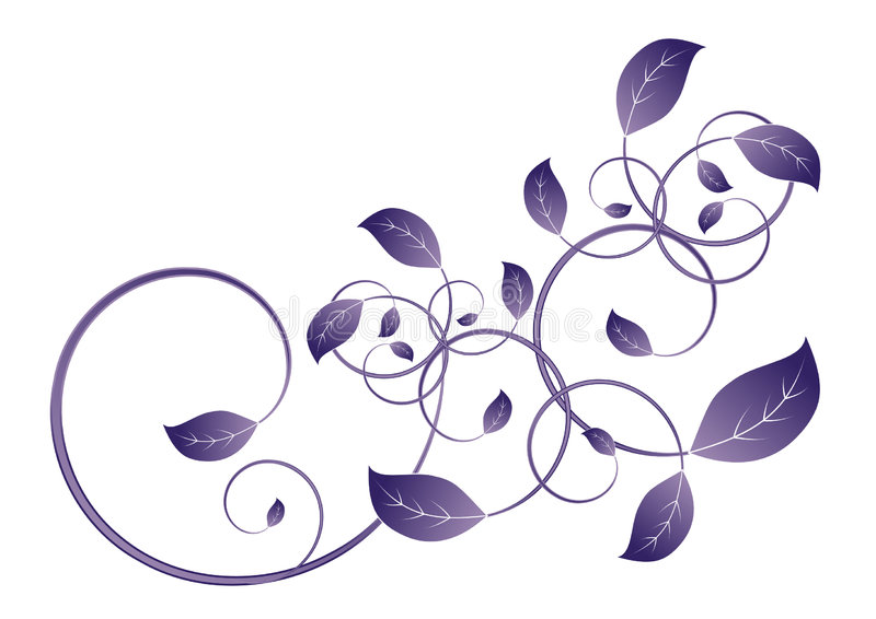 лоза листьев иллюстрация вектора
