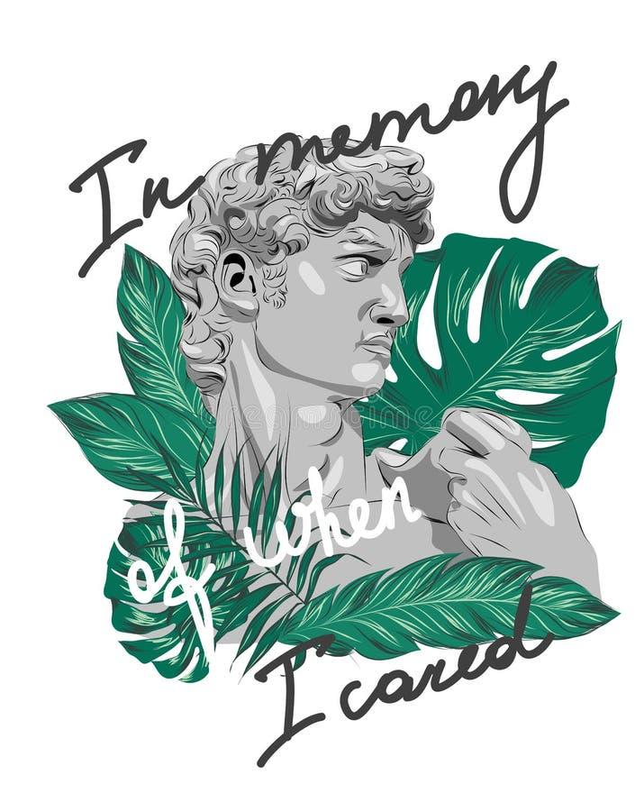 Лозунг скульптуры тропический Улучшите для оформления иллюстрация вектора