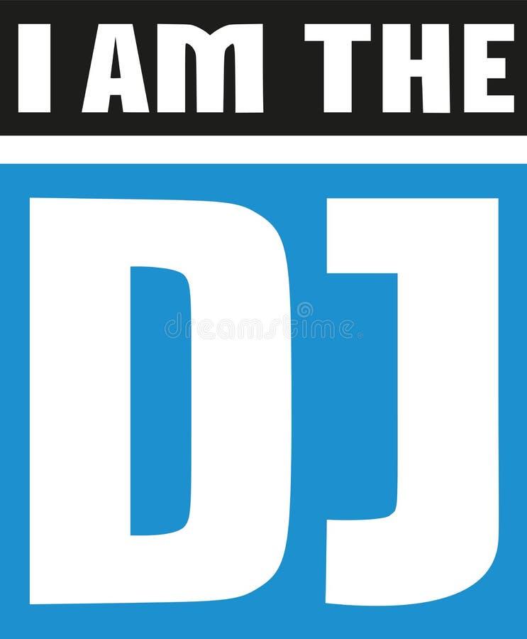 Лозунг - я dj иллюстрация штока