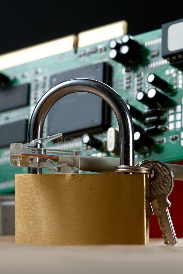 локальные сети кабеля Стоковое Изображение RF
