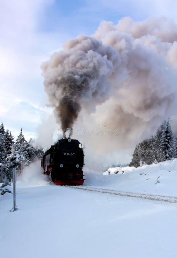 локомотивная зима пара стоковые фотографии rf
