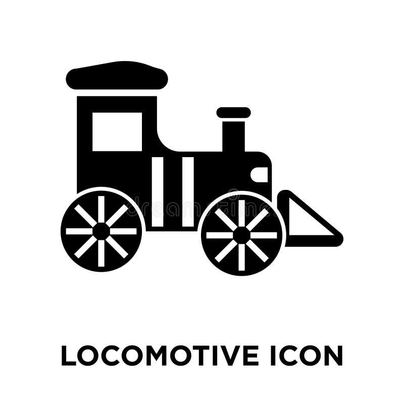 Локомотивный вектор значка изолированный на белой предпосылке, concep логотипа бесплатная иллюстрация