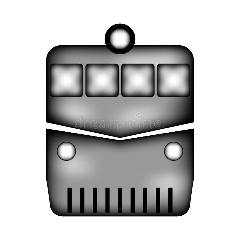 Локомотивный знак значка иллюстрация штока