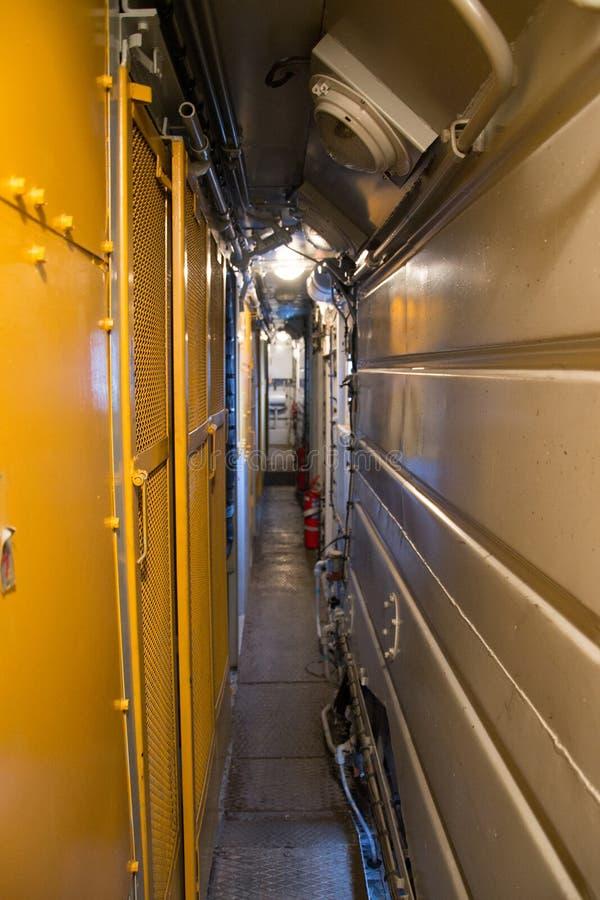 Локомотивный коридор стоковые изображения
