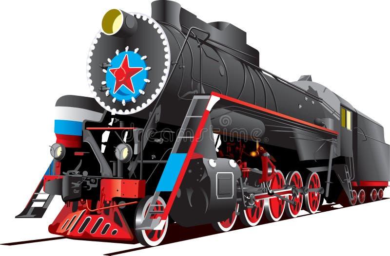 локомотивный пар иллюстрация вектора