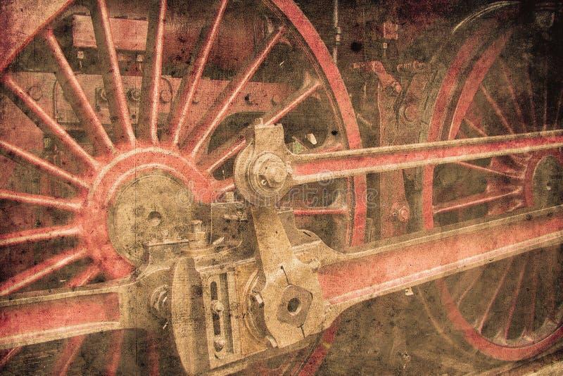 локомотивный пар иллюстрация штока