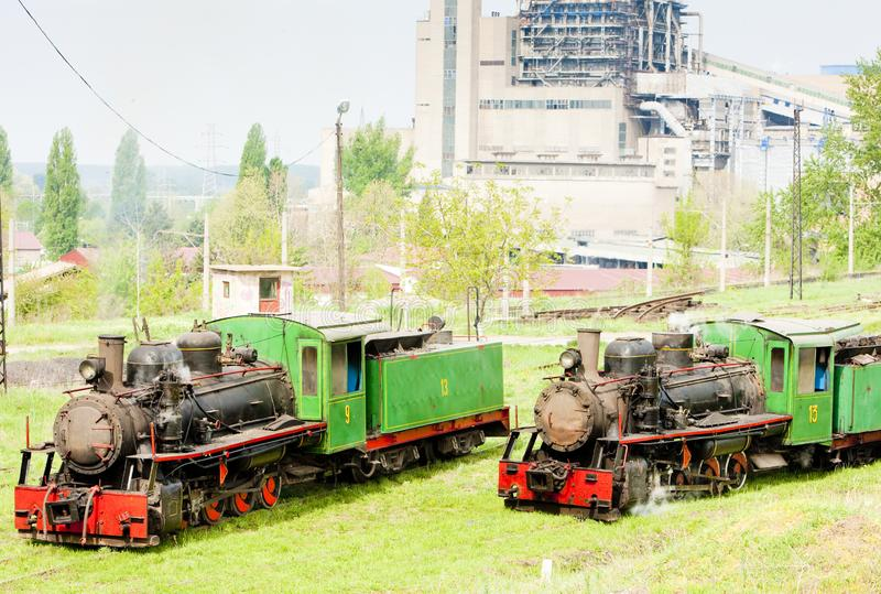 локомотивы пара, Kostolac, Сербия стоковые фотографии rf