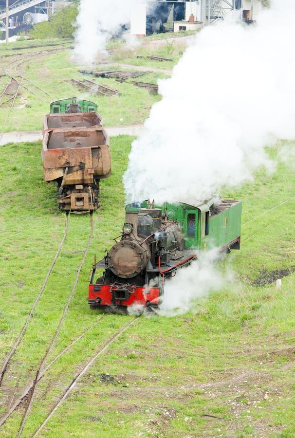 локомотивы пара, Kostolac, Сербия стоковые изображения rf
