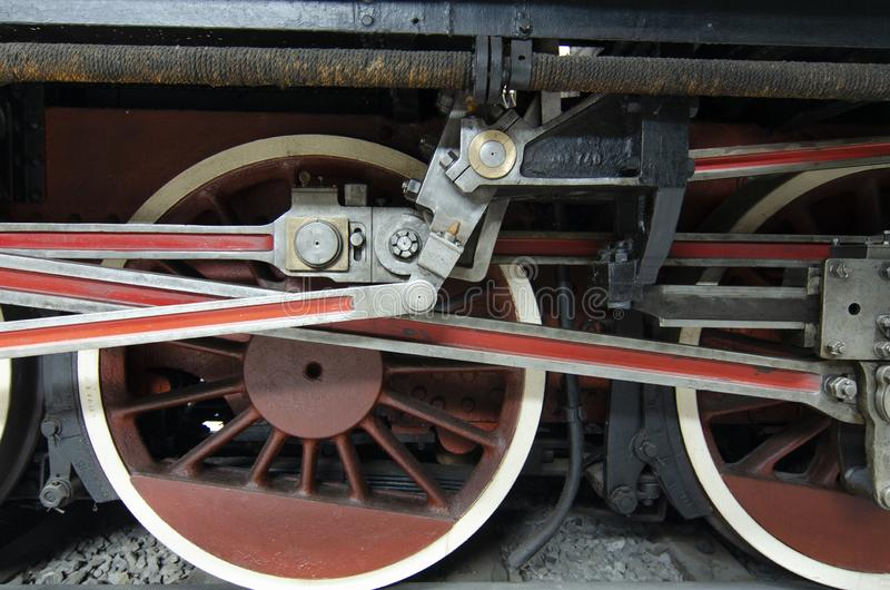 Локомотив детали колеса стоковые изображения rf